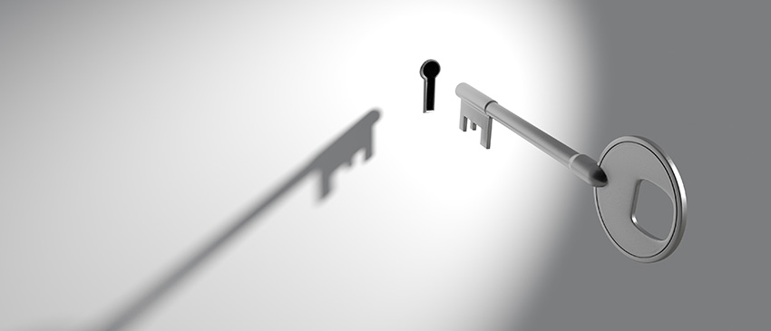 Datenschutz - Schlüssel und Schlüsselloch