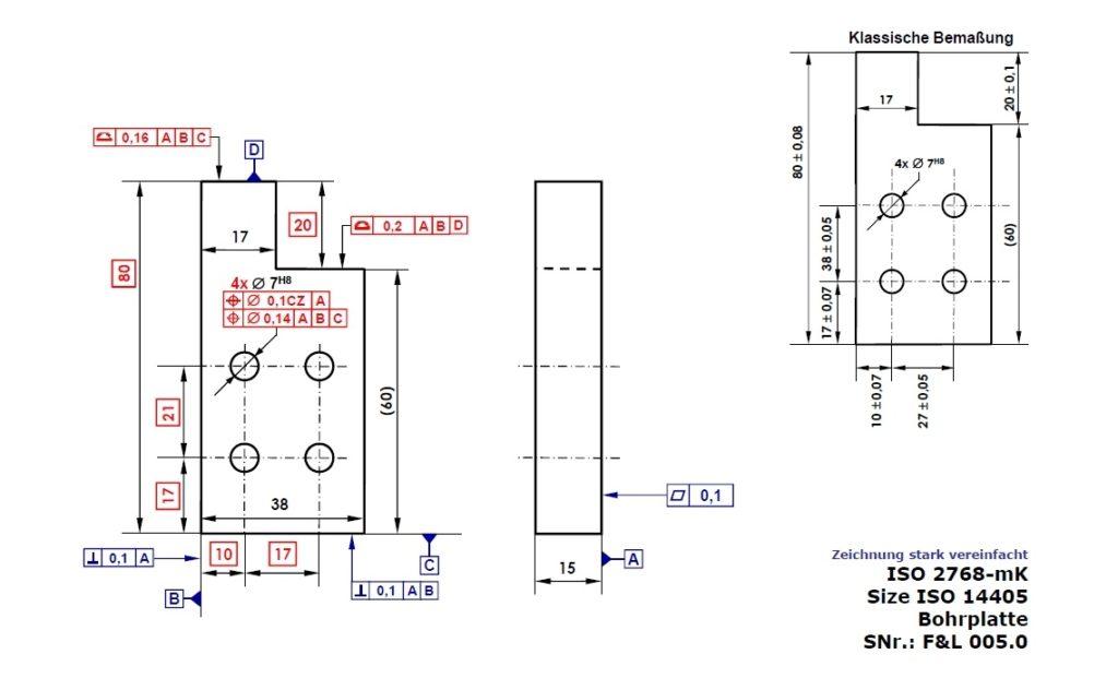 Tolerierung von Nicht-Größenmaßen nach DIN EN ISO 14405-2